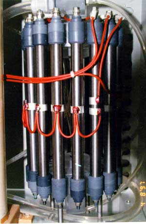One of the reactors of experimental device